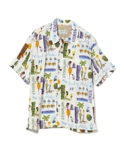 SUN SURF KEONI OF HAWAII / MODERN TROPICS by SHAG アロハ シャツ(Men's)