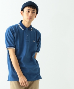 FRED PERRY × BEAMS / 別注 インディゴ調 クレリック ポロシャツ