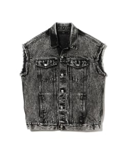 【予約】VAPORIZE / Cut Off Denim Vest