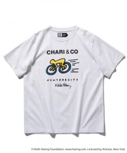 CHARI&CO for Keith Haring / CITY CYCLES ロゴ Tシャツ