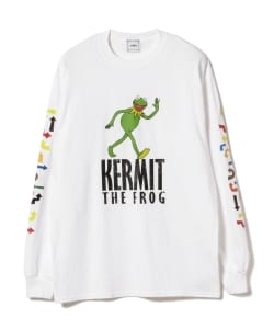 【タイムセール対象品】wiffle × BEAMS T / 別注 Kermit Long Sleeve Tee
