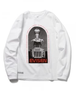 Evisen Skateboards / BOOBY BLAST OFF LONG SLEEVE WHITE