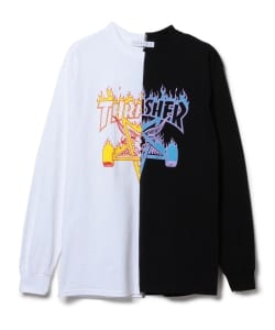 LABRAT × THRASHER / Flame Goat Long Sleeve Tee