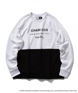 CHARI&CO for Keith Haring / バイトーン クルーネック スウェット