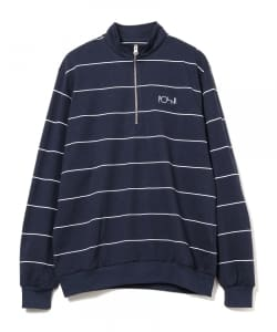 POLAR / STRIPE ZIP NECK