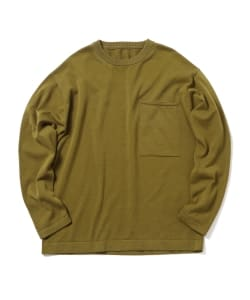 【タイムセール対象品】Crepuscule / Pocket Knit Long Sleeve
