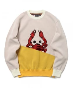 CHARI&CO / SLOPE BI-TONE CRAB KNIT