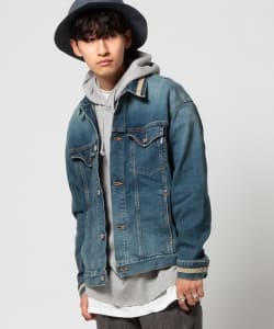 VAPORIZE / Line loose denim jacket