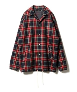 【予約】VAPORIZE / Tartan Check Coach Jacket
