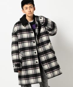 VAPORIZE / Check Stain Collar Coat
