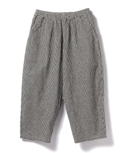 GOLD / Gingham Baloon Pants