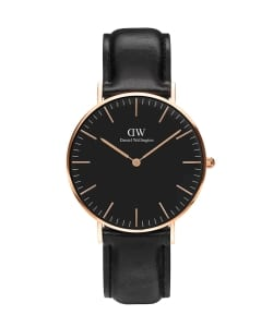 DANIEL WELLINGTON / CLASSIC BLACK 36mm レザーベルト/ローズゴールド