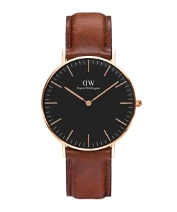 【予約】DANIEL WELLINGTON / CLASSIC BLACK 36mm レザーベルト/ゴールド