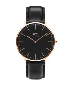 DANIEL WELLINGTON / CLASSIC BLACK 40mm レザーベルト/ローズゴールド