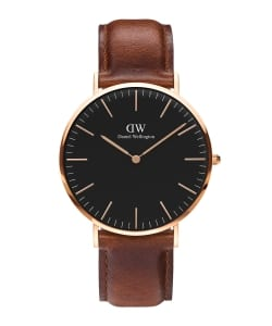 【予約】DANIEL WELLINGTON / CLASSIC BLACK 40mm レザーベルト/ゴールド