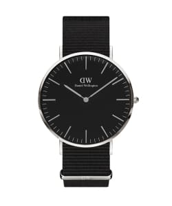 【予約】DANIEL WELLINGTON / CLASSIC BLACK 40mm コーンウォール/シルバー