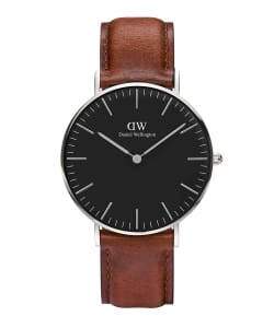 DANIEL WELLINGTON / CLASSIC BLACK 40mm レザーベルト/シルバー
