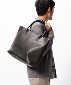 BEAMS / LEATHER TOTE②