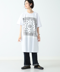CHED / バンダナ パッチ Tシャツワンピース