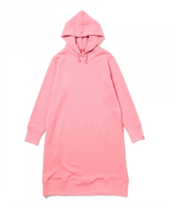 LOOPWHEELER×BEAMS JAPAN / 吊裏 フードワンピース PINK