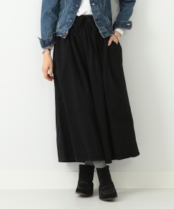 orslow / Gather Skirt Black