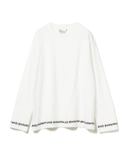 ●White Mountaineering / ヘム プリント ロングスリーブTシャツ