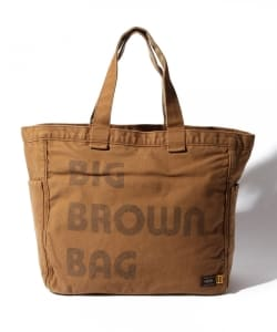 "2-tacs×PORTER / ""BIG BROWN BAG""トートバッグ"