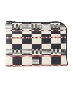 White Mountaineering x PORTER / MULTI LOGO CHECK CLUTCH BAG