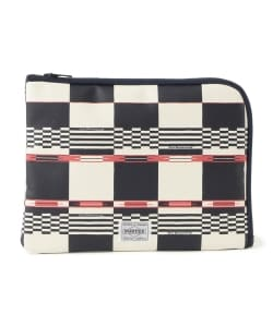 White Mountaineering x PORTER / MULTI LOGO CHECK SMALL CLUTCH BAG