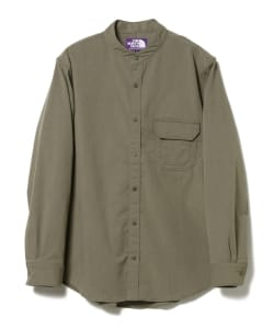THE NORTH FACE PURPLE LABEL / Polyester Twill Stand Collar Shirt