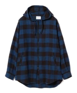 CAL O LINE / Buffalo Plaid Nel Hooded Shirt