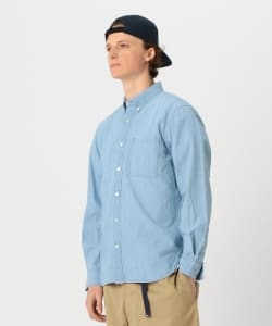 【予約】Pilgrim Surf+Supply / BUBBIE Button Down Indigo Chambray