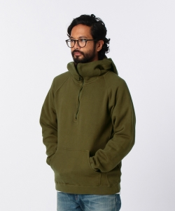 【1/11~再値下げ】nonnative for Pilgrim Surf+Supply / COACH HALF ZIP HOODY COTTON SWEAT OVERDYED