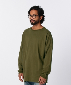 nonnative for Pilgrim Surf+Supply / CLERK L/S TEE COTTON JERSEY OVERDYED