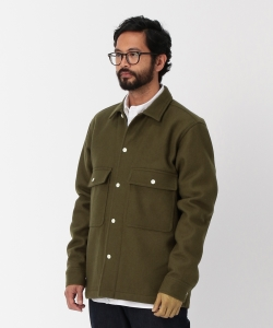 【タイムセール対象 WEB限定】Pilgrim Surf+Supply / CHILTON Melton Shirt Jacket