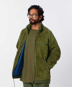 nonnative for Pilgrim Surf+Supply / EXPLORER JACKET ACRYL HIGH PILE