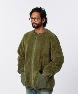 nonnative for Pilgrim Surf+Supply / TROOPER CARDIGAN ACRYL HIGH PILE