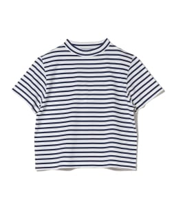 【予約】Pilgrim Surf+Supply / BOYER Mock Neck Stripe Tee