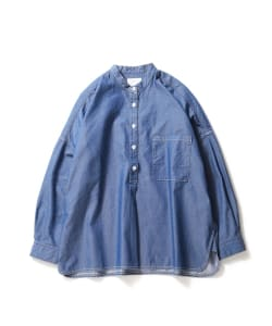 【タイムセール対象品】Pilgrim Surf+Supply / IDA Band Collar Pop-Over