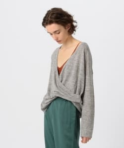 【予約】Pilgrim Surf+Supply / Raquel Linen Crossover Sweater