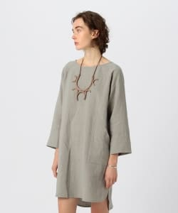 【予約】Pilgrim Surf+Supply / Silvana Linen Tossover Dress