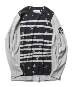 BEAMS LIGHTS with MIC*ITAYA / Snow Border Long Sleeve T-Shirt