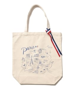 【タイムセール対象 WEB限定】BEAMS LIGHTS / PARIS MAP TOTE
