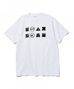 BEAMS JAPAN / TODOFUロゴ Tシャツ 白