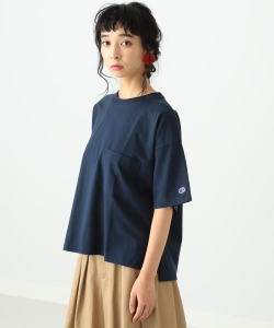 Champion × Ray BEAMS / 別注 Big Pocket Tシャツ