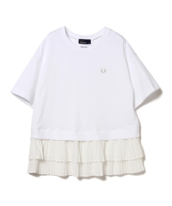 ●FRED PERRY × MUVEIL / プリーツ シフォンT
