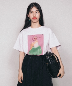 TONDABAYASHI RAN×Ray BEAMS / HOTゼリー ビッグTシャツ