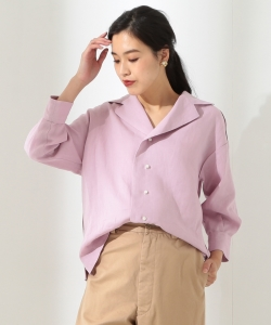 ●【予約】MADISONBLUE / BIG COLLAR OPEN BLOUSE