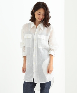【予約】MADISONBLUE / HAMPTON LINEN LONG SHIRT●