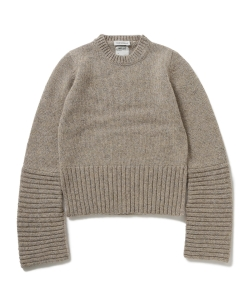 ●MADISONBLUE / CUFF PANEL CREW NECK PULLOVER
